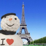 Postcard from Paris!!! I love my snowman!!!