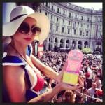 cona lsb e Go-go dancer Sophie D'Ishtar - Piazza della Repubblica